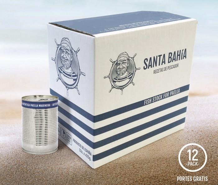 Caja 12 latas - Caldo Santa Bahía 425ml
